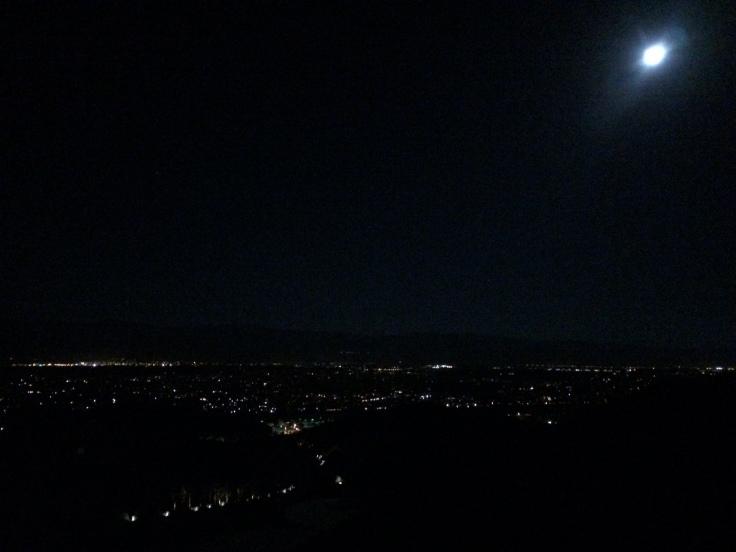 Palm Springs Star Moon Sky